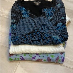 BUNDLE - Printed Free People/Lucky Brand Thermals